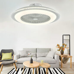 23quot; Modern Ceiling Fan With Light Dimmable LED Chandelier amp;Remote Lampamp;Timer USA $124.01