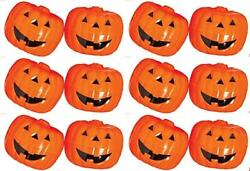 Halloween Pumpkin Containers Plastic Closeable Jack O Lantern Favor Containers $31.99
