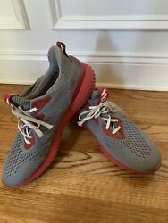 Adidas Mens Alpha 3 Bounce Art Grey Red Running Shoes Size 16 $36.99