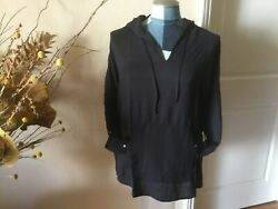 NWT Long Sleeves Hooded T Shirt Blouse Top with pocket size M Medium $6.00
