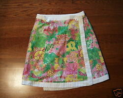 LILLY PULITZER WRAP AROUND REVERSIBLE SKIRT BEAUTY 8 $35.00