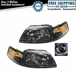 Headlights Headlamps Left & Right Pair Set NEW for 99-04 Ford Mustang $72.00