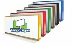 NEW Single Sided 4x6 LIGHTED outdoor BUSINESS box retail SIGN custom COMMERCIAL