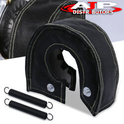 Black Turbo Charger Heat Shield Blanket Large Cover Wrap T4 Gt35 Gt37 Gt40