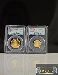 2012-W American Gold Eagle Proof $10 $25 PCGS FIRST STRIKE PR70 PR70DCAM 14 12