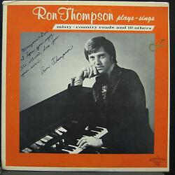 RON THOMPSON plays and sings LP Mint- Private WI Country & Organ Vinyl  Record