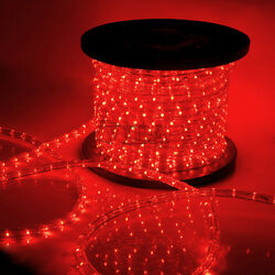 Red LED Rope Light 110V Home Party Christmas Decorative InOutdoor