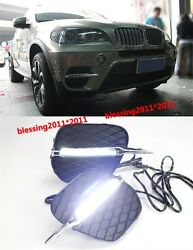2x Car-Specific LED Driving Daytime Running Light DRL For BMW X5 2011-2013 AAAA