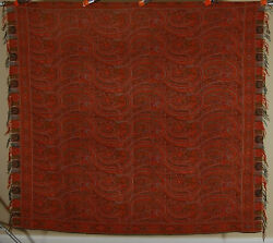 OUTSTANDING Vintage 1880's 19th c. Wool Paisley Shawl ~AMAZING CONDITION!
