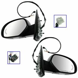 Mirror Power Folding Heated Memory Puddle Signal Textured Pair for GM Pickup SUV $195.97