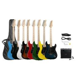 New Brand Electric Guitar+20W AMP+Strap+Cord+Gigbag+Picks for Beginner $104.99