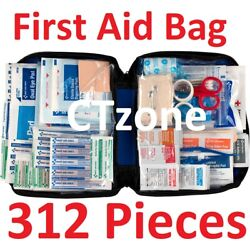 312 pc First Aid Kit Emergency Bag Home Car Outdoor American Red Cross Guide Set