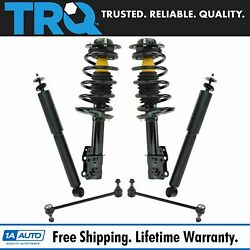 Strut Assembly Shock Absorber Set of 4 & Front Sway Bar Links for Malibu G6 Aura