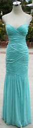 NWT HAILEY LOGAN $190 Seafoam Ball Evening Prom Gown 7