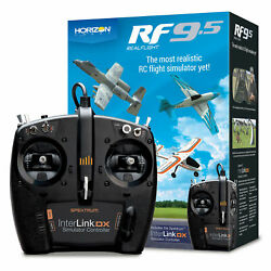 Realflight 9.5 RC Airplane Flight Simulator w Interlink DX Controller MD 2 MD2 $179.99