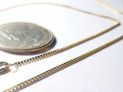 14kt Gold Yellow or White .8MM Box Chain -131618202430 inch wLOBSTER LOCK