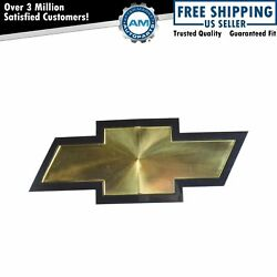 OEM Grille Bowtie Emblem Gold amp; Black for Chevy Silverado HD Pickup Truck New $83.32