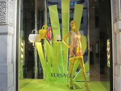 New VERSACE Floral Printed Silk Dress with Bag