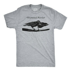 Attempted Murder T Shirt Funny Sarcastic Novelty Graphic Tee Adult Humor Top $7.99