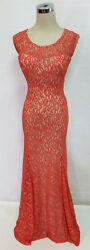NWT SEQUIN HEARTS $120 Orange Prom Party Evening Gown 3