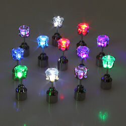Unisex Cool Light Up Led Blinking Earring Stud Dance Party For Party Xmas Club $1.29
