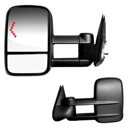 For Chevy Silverado 1500 Classic 07 Towing Mirrors Driver & Passenger Side Power