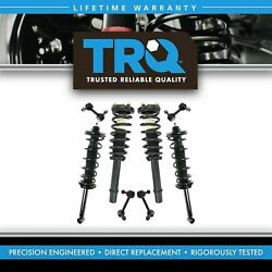 Shock Strut Assembly w Sway Bar Link Kit LH RH Front & Rear Set of 8 for Accord