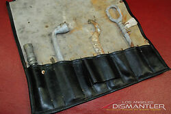 Porsche 911 SC late 70s-early 80s Tool Kit 4 pieces + Black Leather Bag Factory