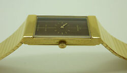 Rare New Old Stock Full 18K Gold Omega De Ville Jeux D'Or Art Deco Ladies Watch