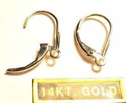 14kt Pure Solid Yellow Gold Dangling Lever BACKS Pair.....
