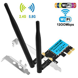 1200Mbps PCI E Wireless WiFi Card 2.4G 5G Dual Band Network Adapter for Desktop $17.99