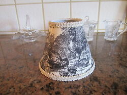 Waverly Black Petite Ferme Rooster French Country Toile Lamp Shade Chandelier $29.99