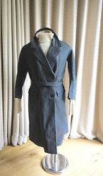 Vintage 1920s Double Breasted Leather Car Coat with Faux Leopard Skin Lining