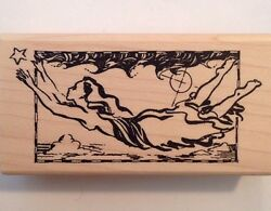 Dreamward Sky Flying Star Acey Deucy Rubber Stamp P2 726 $14.99