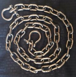Stainless Steel 316 Anchor Chain 8mm or 5 16quot; by 10#x27; long with quality shackles $77.99