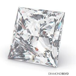 1.03 Carat DSI2Ex Cut Princess AGI Earth Mined Diamond 5.64x5.50x4.00mm