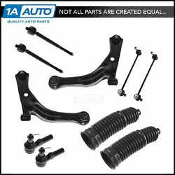 Ball Joint Tie Rod Control Arm Sway Bar End Link Front Suspension Kit Set of 10
