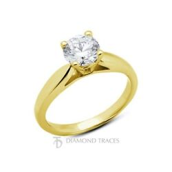 3.04ct G-I1 Ideal Round Natural Diamond 18k Gold Cathedral Solitaire Ring 2.8mm