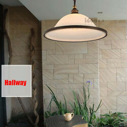 Iron Glass LED Pendant Balcony Hallway Dining Cafe Bar Garden Small Chandelier