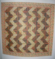Garden Streams Log Cabin QUILT KIT wRJR Fabrics