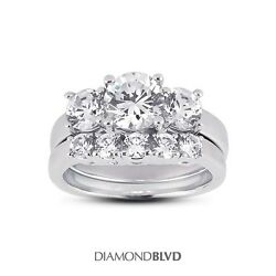 2.10ct IVS2VG Round AGI Earth Mined Diamonds Platinum Classic Basket Set 13.6g