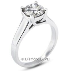 2.03 CT DI1V.Good Round Earth Mined Diamond 14KW Trellis Engagement Ring 4.5