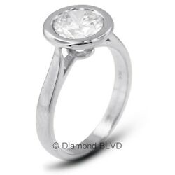 1.78 CT DI1V.Good Round AGI Earth Mined Diamond 14KW Halo Solitaire Ring 3.3gr