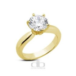1.23ct IVS2Ex Round AGI Earth Mined Diamond 18K Classic Engagement Ring 4.42gr