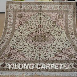 Yilong 8'x10' Wool Area Rug Hand knotted Accent Shag Carpets Handmade Sale 1352