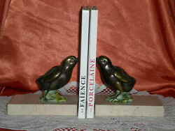 PAIR OF GREENHOUSE BOOKS MARBLES AND REGULATES ART DECO CHICKS