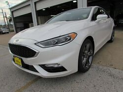 2017 Ford Fusion Sport 2017 Ford Fusion Sport 9 Miles White Platinum Metallic Tri-Coat 4dr Car Twin Tur