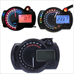 15000rpm Motorcycle ATV Dual Color Backlight LCD Digital Speedometer Tachometer $46.70