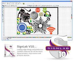 SignLab 10 Design & Vinyl Plotter Cutting Vector Image Layout Windows Program