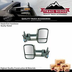 Trail Ridge Towing Mirror Power Heated Smoke Signal Pair for 03-07 Chevy GMC New